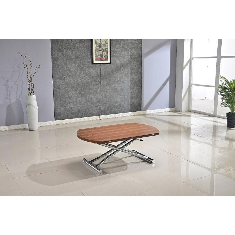 tables relevables tables et chaises table basse ronde relevable et extensible planet noyer. Black Bedroom Furniture Sets. Home Design Ideas