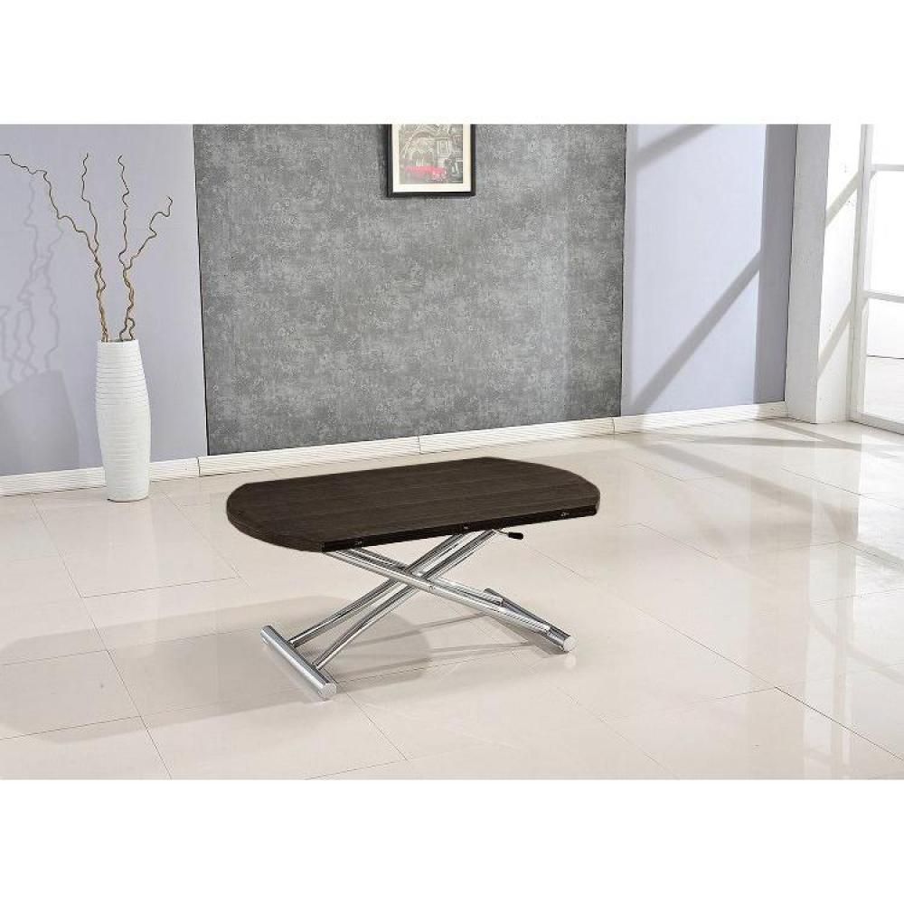 Tables relevables tables et chaises table basse ronde for Table basse relevable wenge