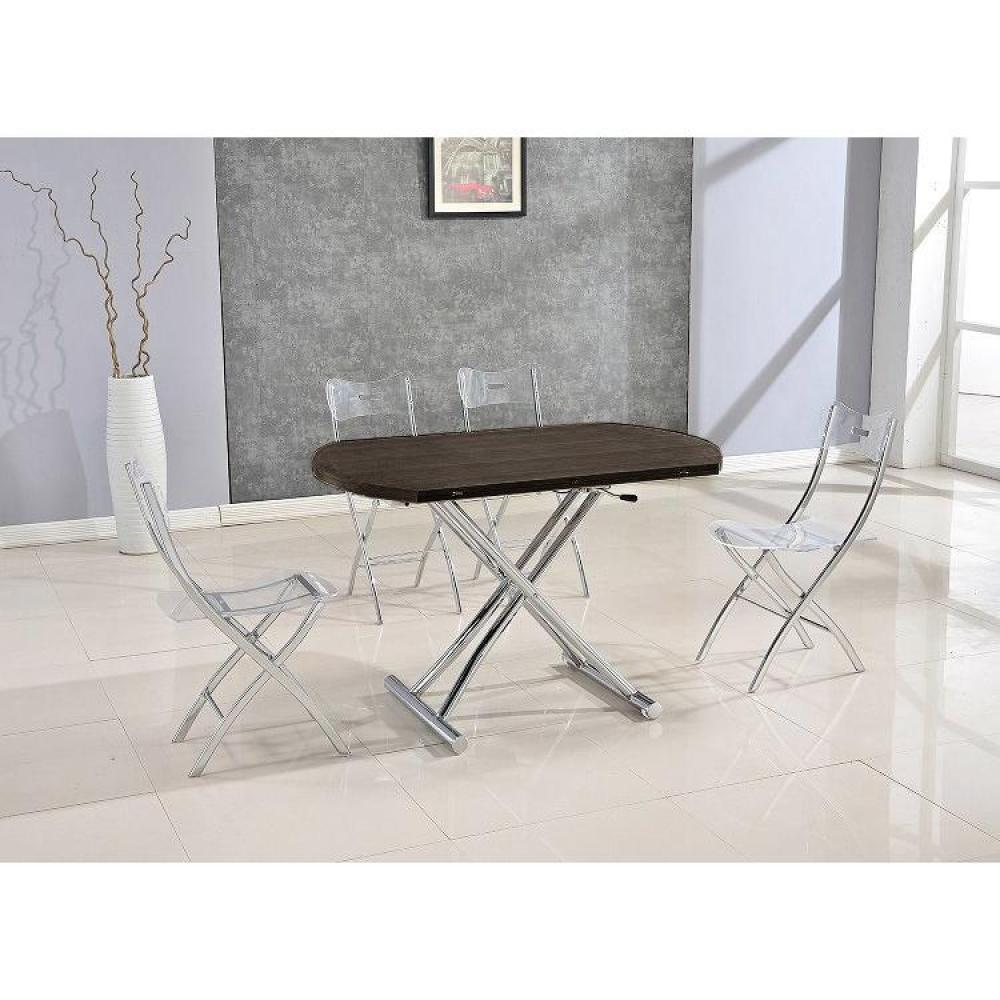 Tables relevables tables et chaises table basse ronde relevable et extensible planet weng - Table basse relevable wenge ...