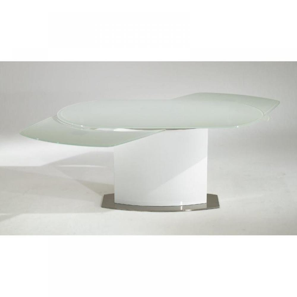 Cyber monday week table de repas saturn blanche extensible jusqu 39 12 c - Table extensible 20 couverts ...