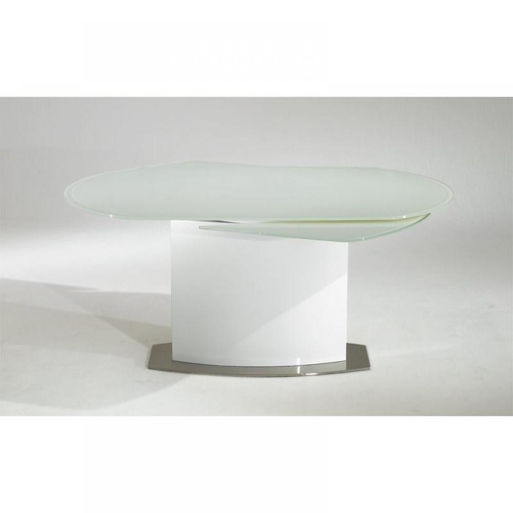 Plateau et allonges en verre tremp s curit blanc for Table extensible jusqu a 12 personnes
