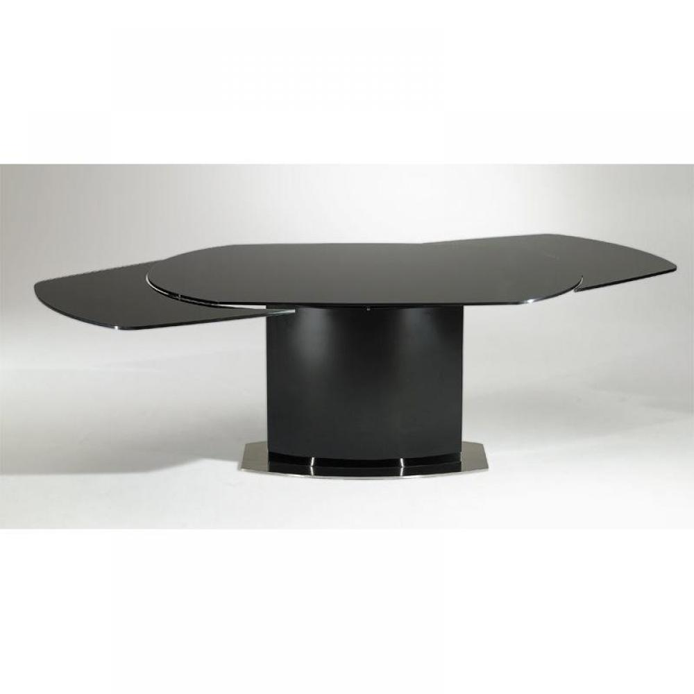 Tables repas tables et chaises table de repas saturn for Table noir rallonge
