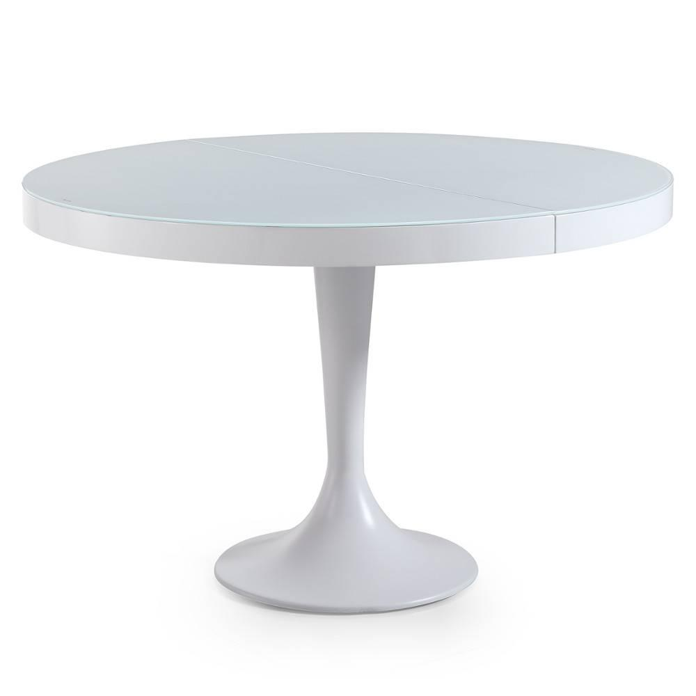 Tables tables et chaises table ronde extensible tulipe blanche inside75 - Table extensible blanche ...