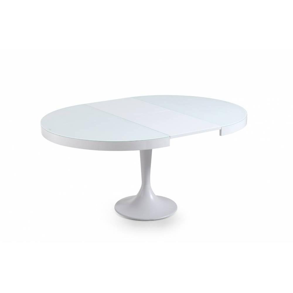 Tables repas tables et chaises table ronde extensible for Table blanche extensible