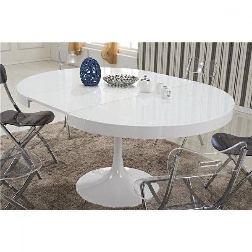 tables repas tables et chaises table ronde extensible tulipe blanche inside75. Black Bedroom Furniture Sets. Home Design Ideas