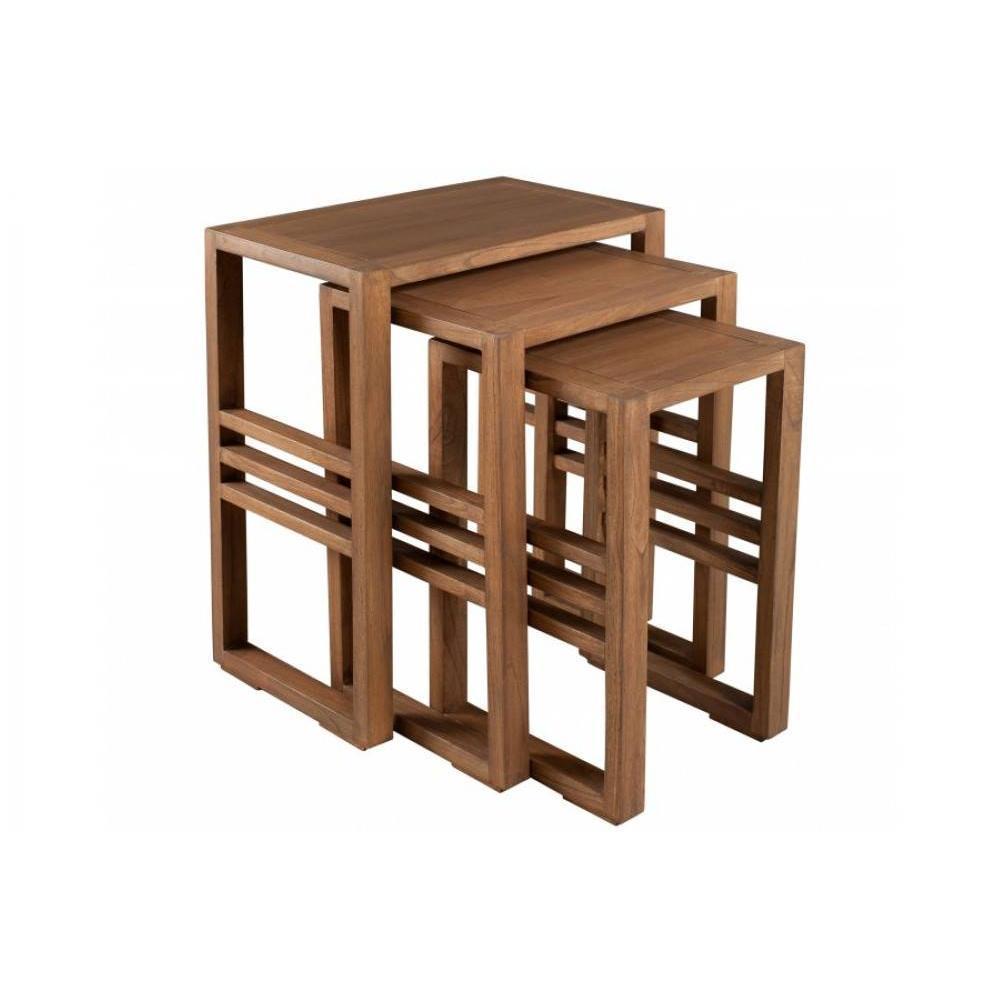 tables gigognes tables et chaises ensemble de 3 tables gigognes laura en mindi style colonial. Black Bedroom Furniture Sets. Home Design Ideas