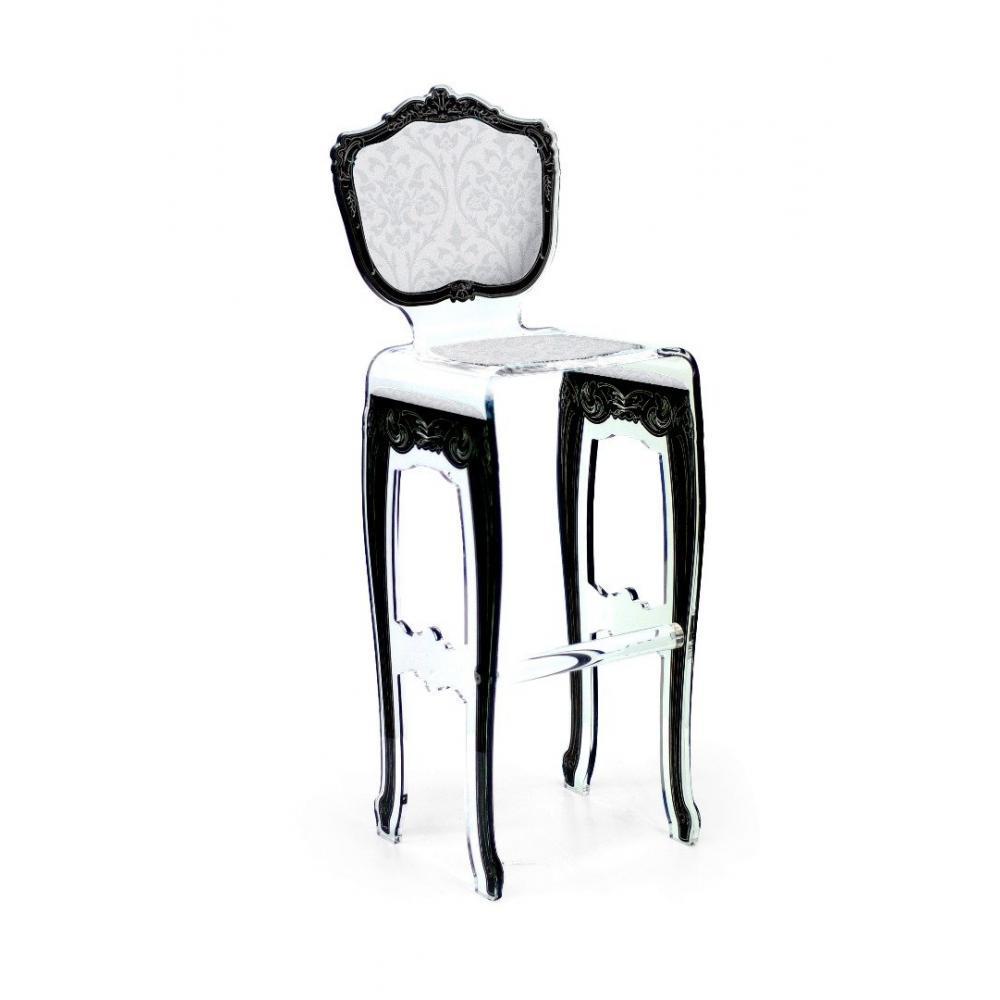 Chaises meubles et rangements tabouret de bar barok blanc en plexi par acri - Tabouret baroque blanc ...