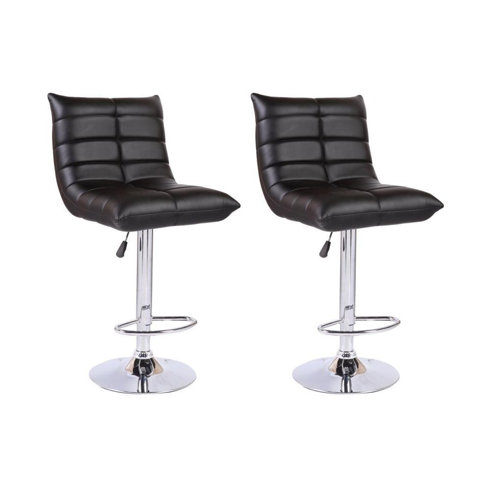 chaises de bar tables et chaises lot de 2 chaises de bar cool en tissu enduit polyur thane. Black Bedroom Furniture Sets. Home Design Ideas