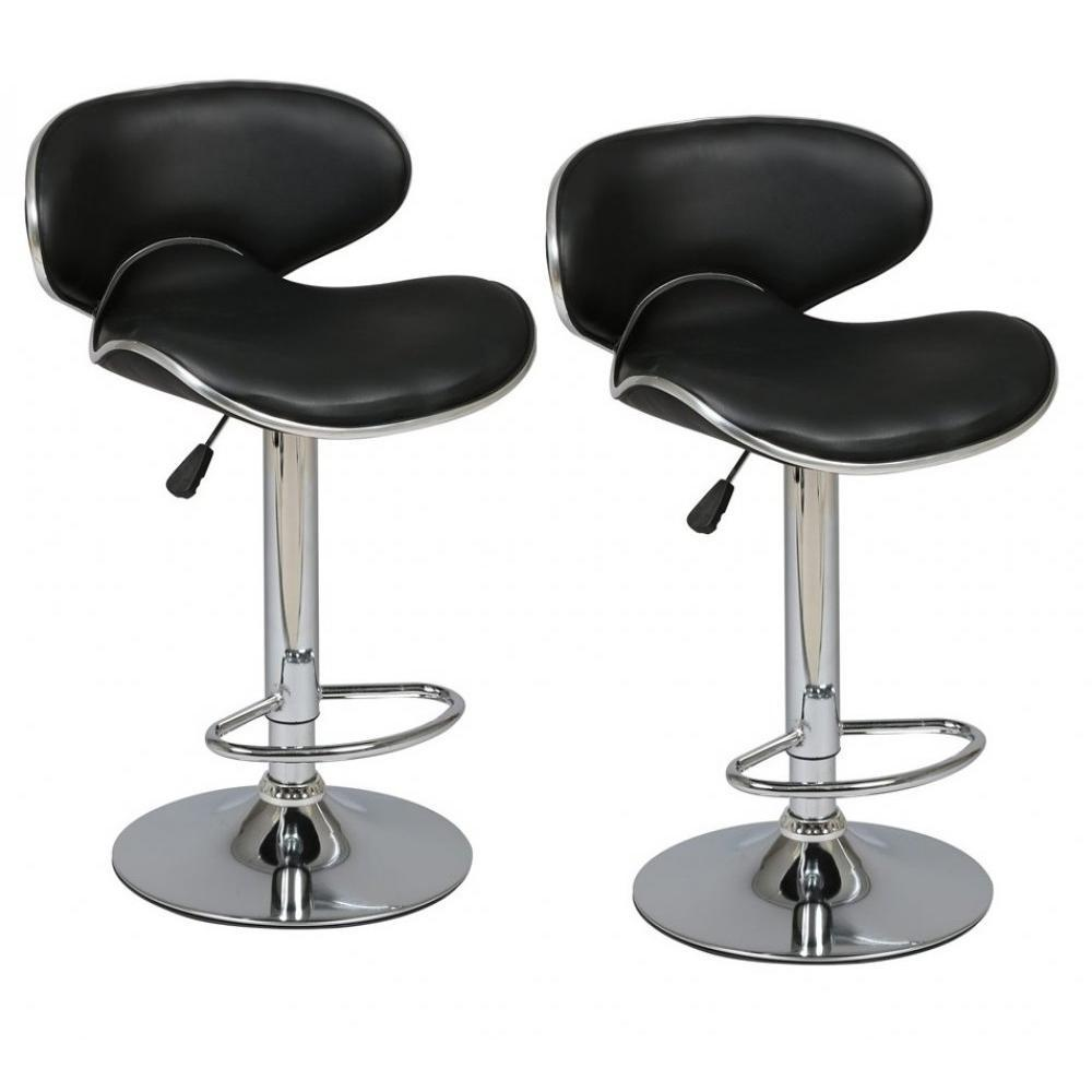 Chaises de bar tables et chaises lot de 2 tabourets de for Table bar avec tabouret