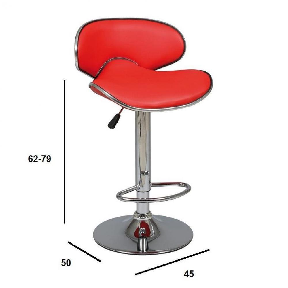 Chaises de bar tables et chaises lot de 2 tabourets de for Table de bar rouge