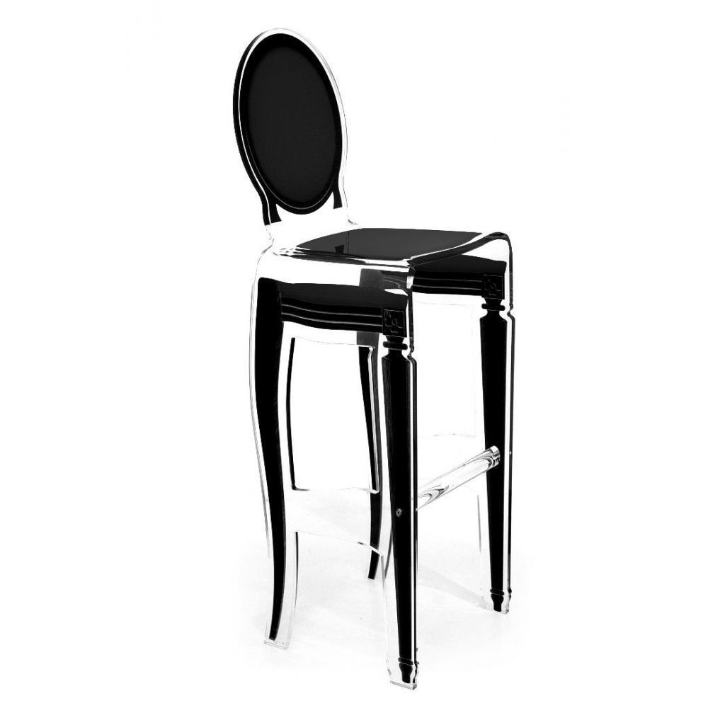 tabourets de bar tables et chaises sixteen tabouret de bar noir en plexi par acrila inside75. Black Bedroom Furniture Sets. Home Design Ideas
