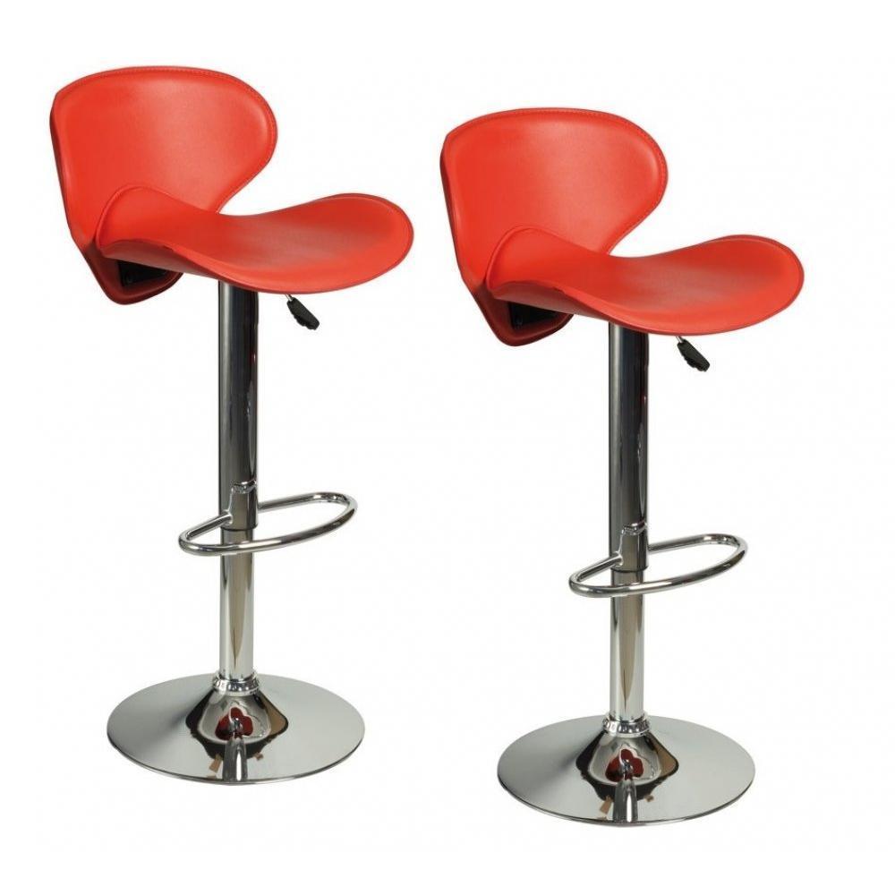 chaises de bar tables et chaises lot de 2 chaises de bar tulipa rouge inside75. Black Bedroom Furniture Sets. Home Design Ideas
