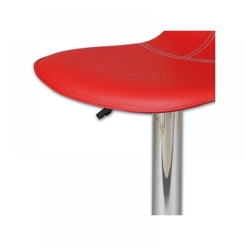 Chaises de bar tables et chaises lot de 2 chaises de bar tulipa rouge ins - Chaises de bar rouge ...