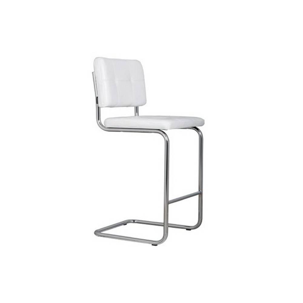 chaises de bar tables et chaises zuiver chaise de bar ridge leather cuir capitonn 233 coloris