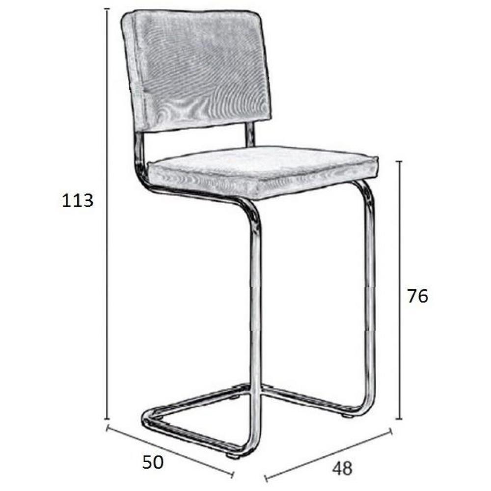 chaises de bar tables et chaises zuiver chaise de bar ridge rib en velours coloris jaune. Black Bedroom Furniture Sets. Home Design Ideas