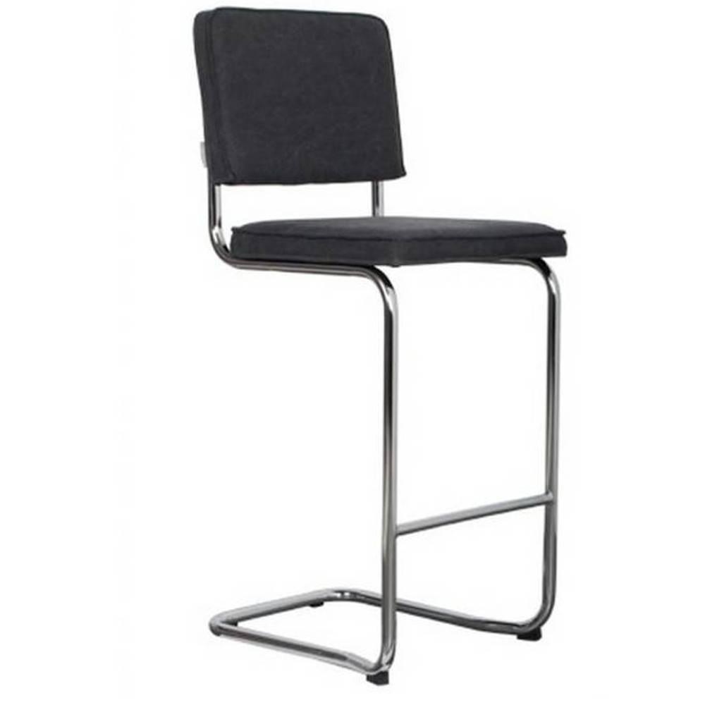 chaises de bar tables et chaises zuiver chaise de bar ridge vintage coloris noir inside75. Black Bedroom Furniture Sets. Home Design Ideas