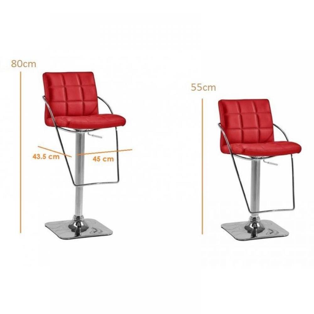 tabourets de bar tables et chaises cabrio rouge lot de 2. Black Bedroom Furniture Sets. Home Design Ideas
