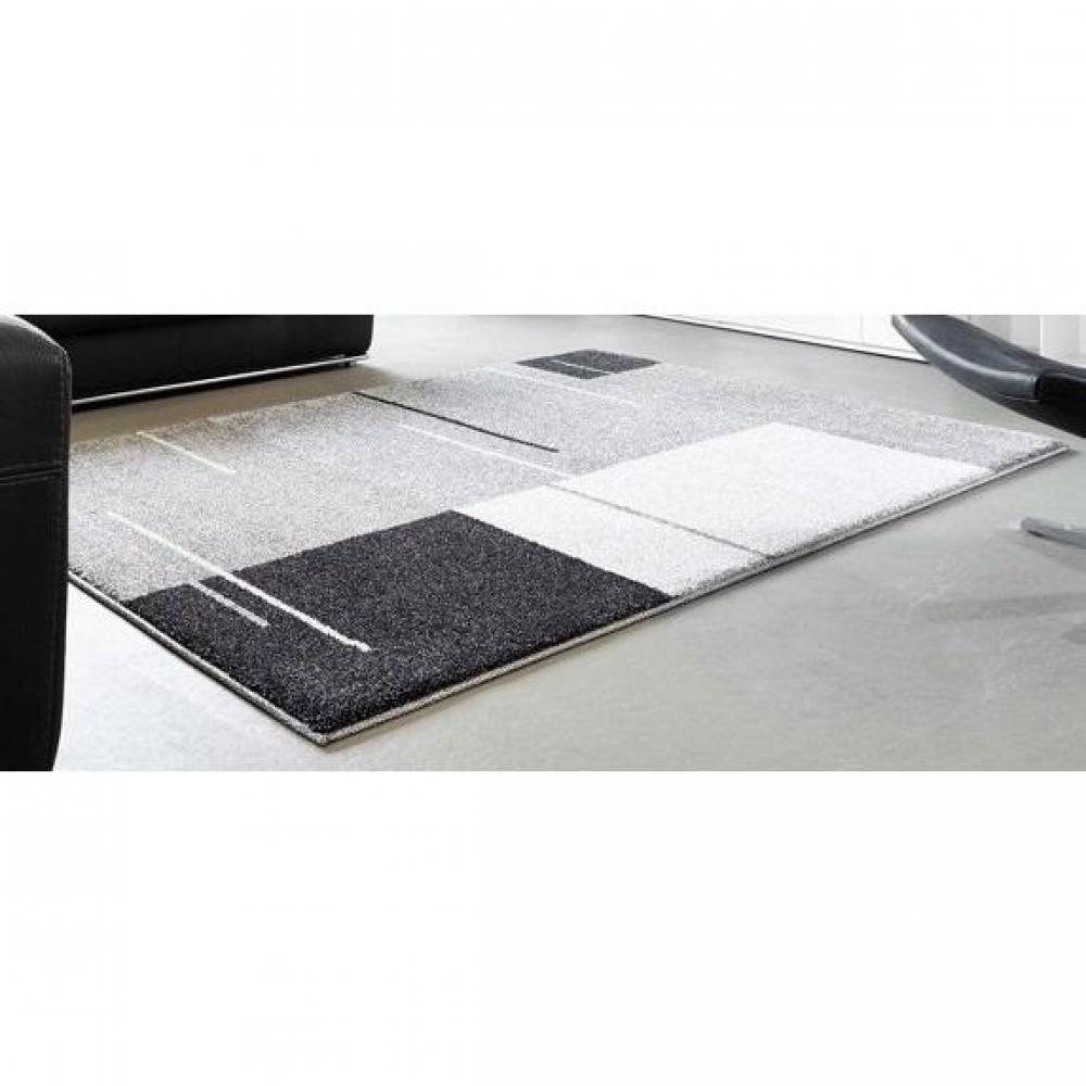 tapis de sol meubles et rangements samoa design tapis patchwork gris 140x20. Black Bedroom Furniture Sets. Home Design Ideas