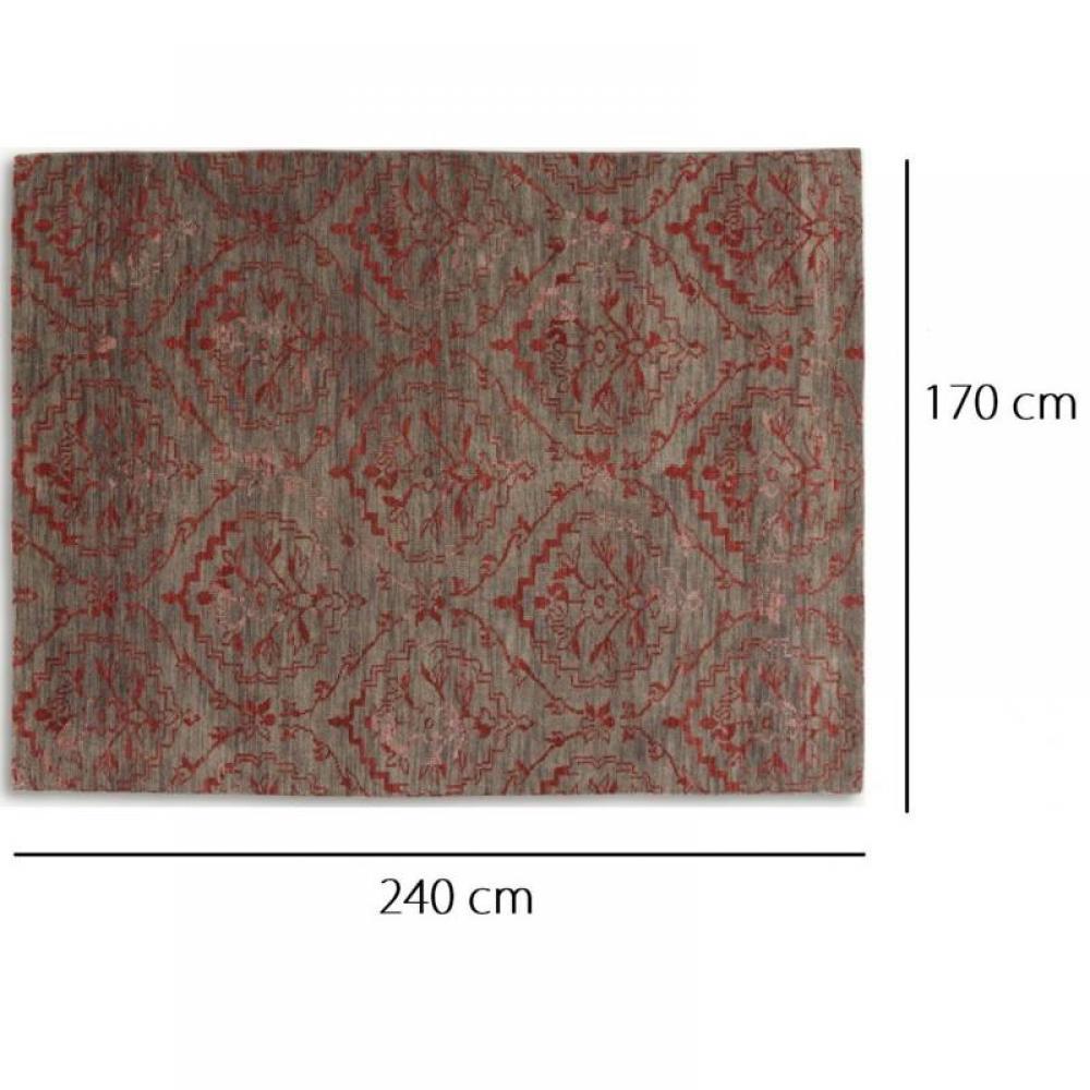 BASANTI Tapis laine rouge taupe 170×240 cm  Place du Mariage