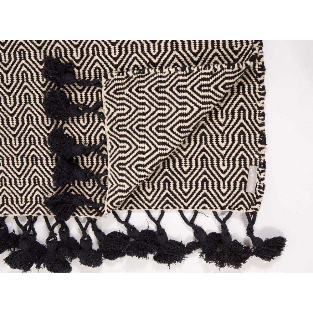tapis de sol meubles et rangements zuiver tapis ziggy blanc et noir inside75. Black Bedroom Furniture Sets. Home Design Ideas