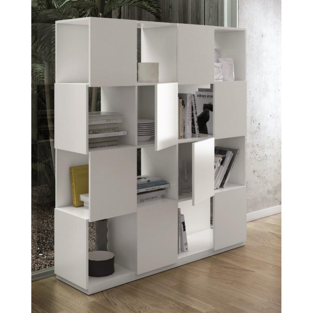 promotion 10 branch tag re biblioth que design temahome laqu e blanc mate ancien prix 685. Black Bedroom Furniture Sets. Home Design Ideas