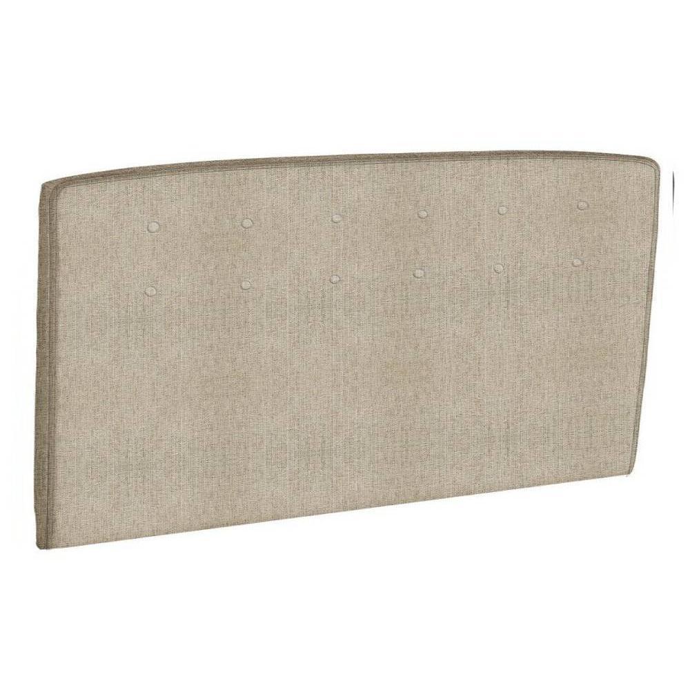 T tes de lit chambre literie t te de lit capitonn e epeda tissu armur - Tete de lit capitonnee beige ...