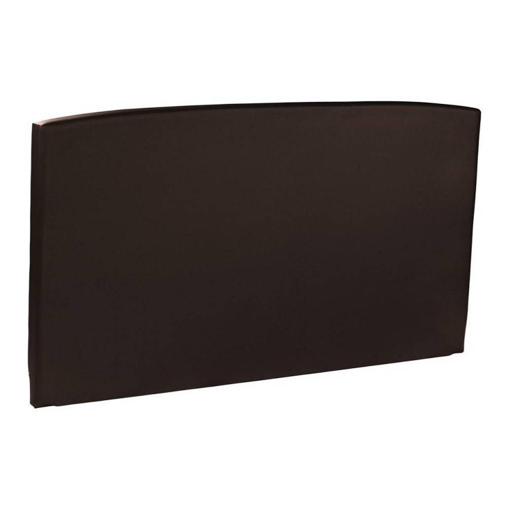 t tes de lit chambre literie t te de lit galb e epeda enduit chocolat fa on cuir inside75. Black Bedroom Furniture Sets. Home Design Ideas
