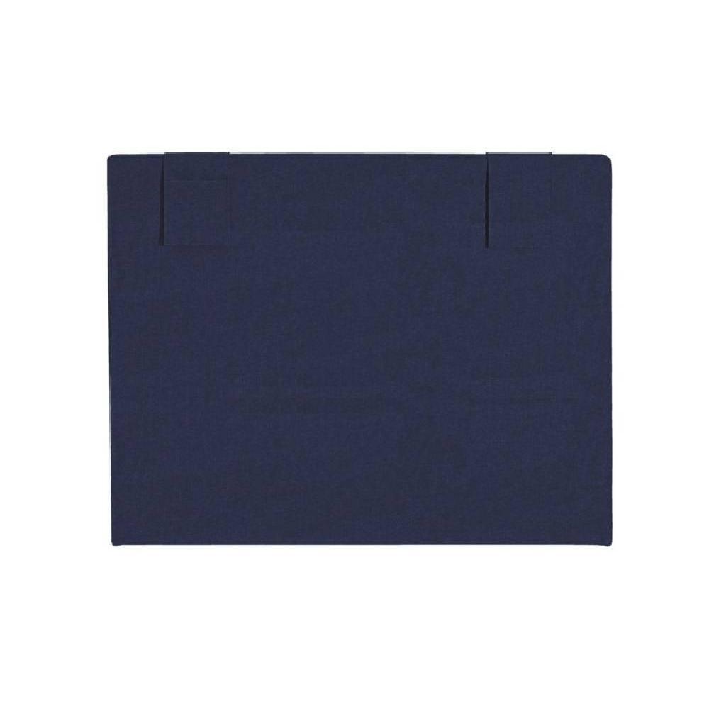 T tes de lit chambre literie t te de lit hop 39 la merinos chin bleu nuit avec pochettes de - Tete de lit bleu ...