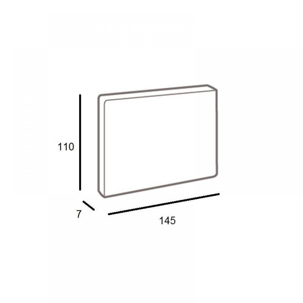 t tes de lit chambre literie t te de lit haut de gamme lune 145 cm inside75. Black Bedroom Furniture Sets. Home Design Ideas