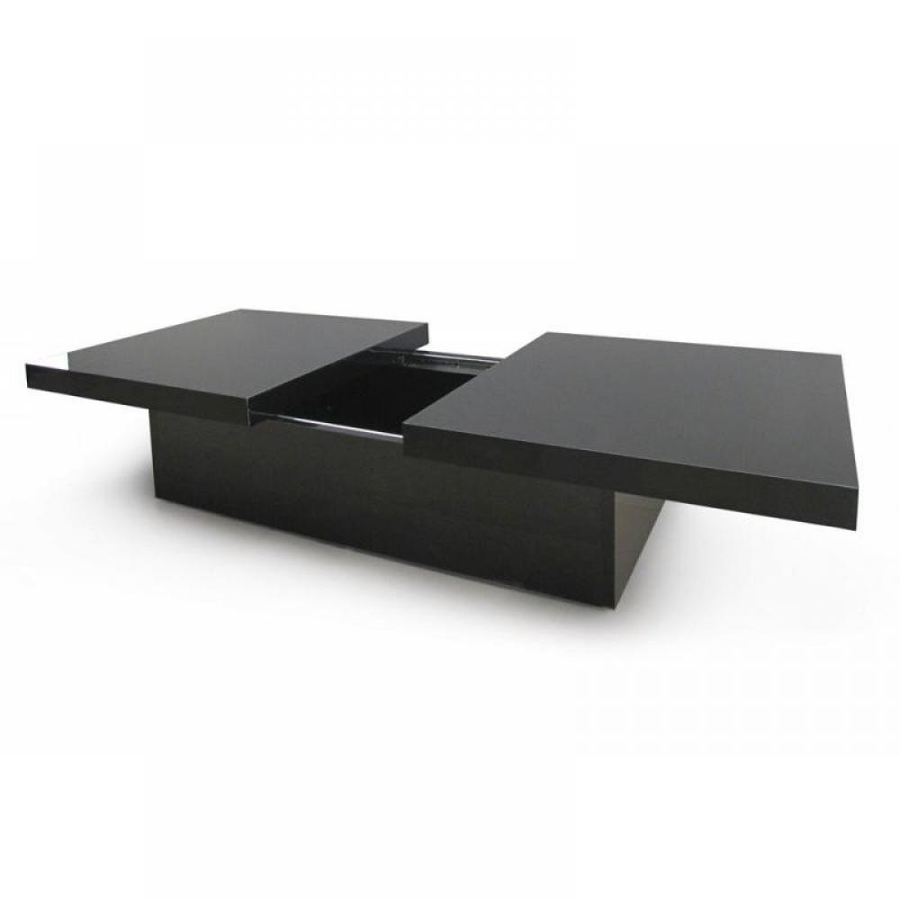 Table basse en laque noir - Table extensible laquee ...