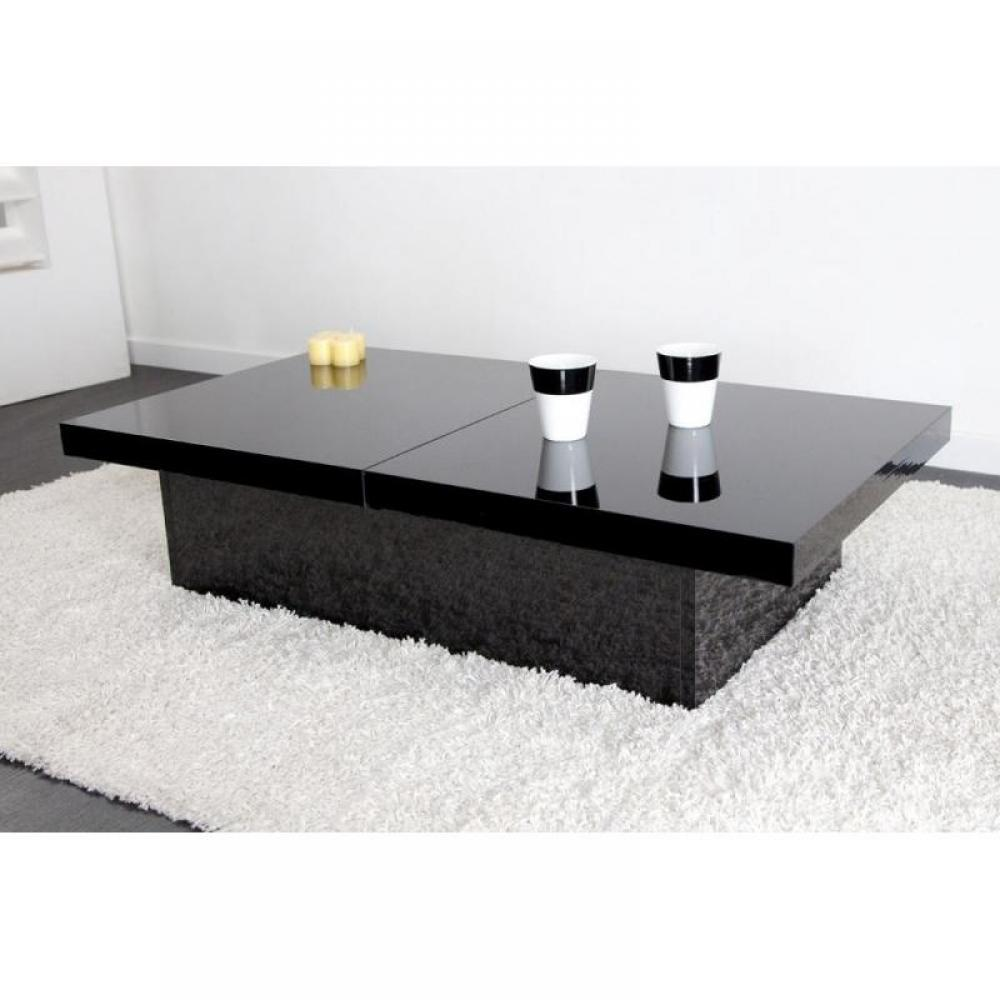 Tables basses, tables et chaises, Table basse extensible TRENDY en MDF laqué  -> Table Basse Noire