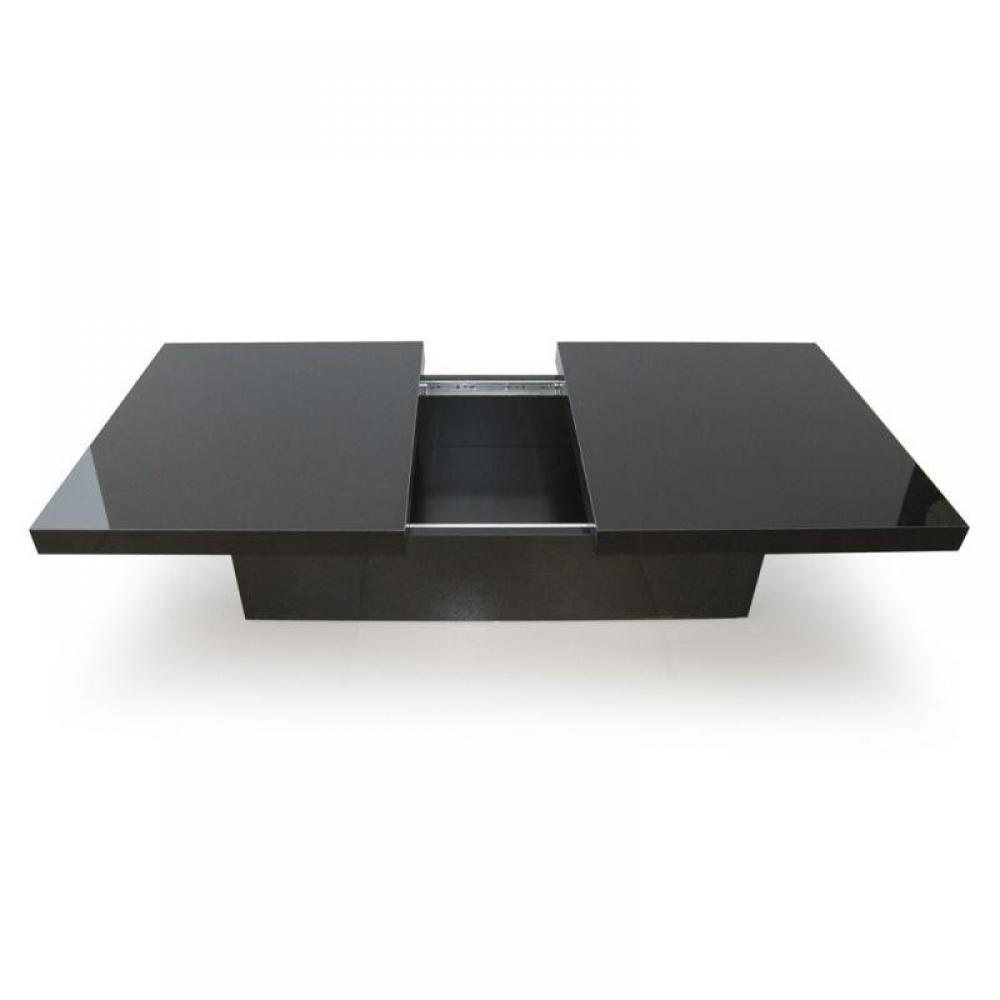 table basse bar noire laquee. Black Bedroom Furniture Sets. Home Design Ideas