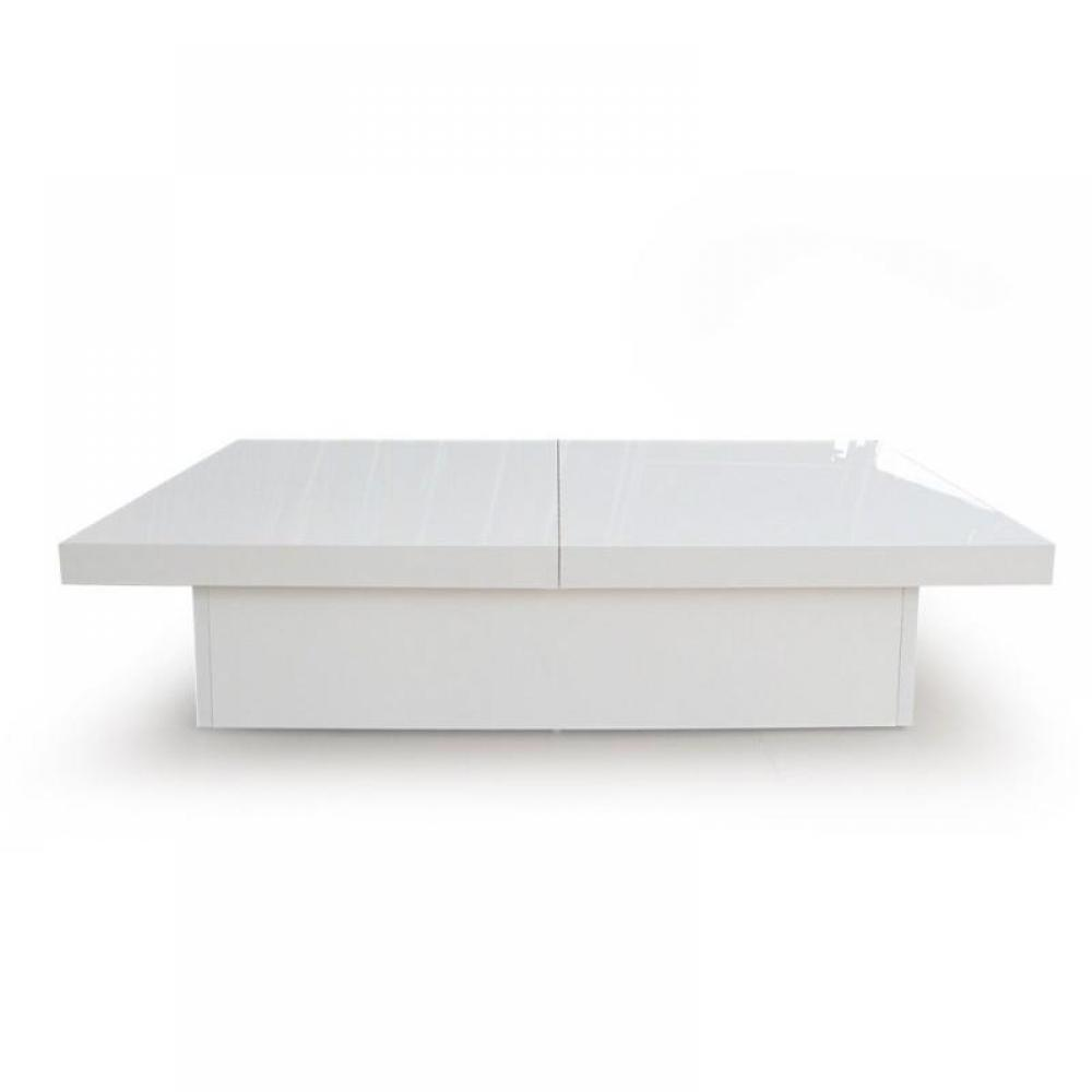 Tables basses tables et chaises trendy table basse for Table carree extensible blanc laque