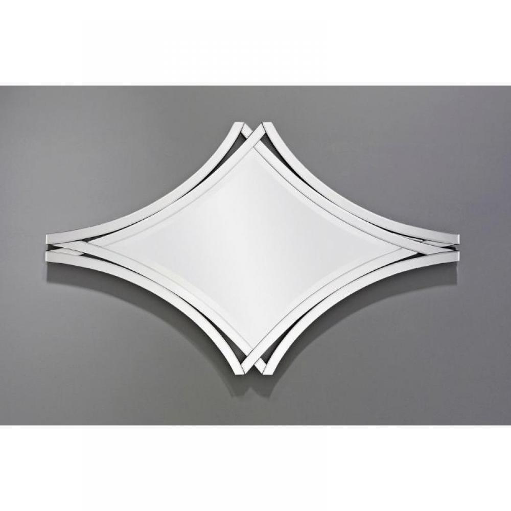 Twin miroir mural design blanc place du mariage for Miroir blanc design