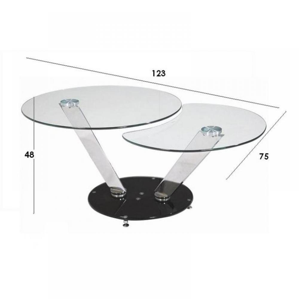 tables basses tables et chaises twin black table basse design ronde double plateaux inside75. Black Bedroom Furniture Sets. Home Design Ideas