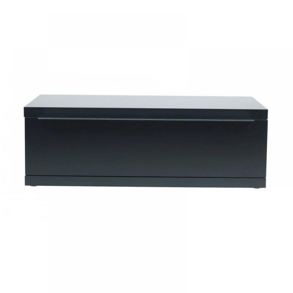 Meubles tv meubles et rangements meuble tv design noir for Meuble tele etagere