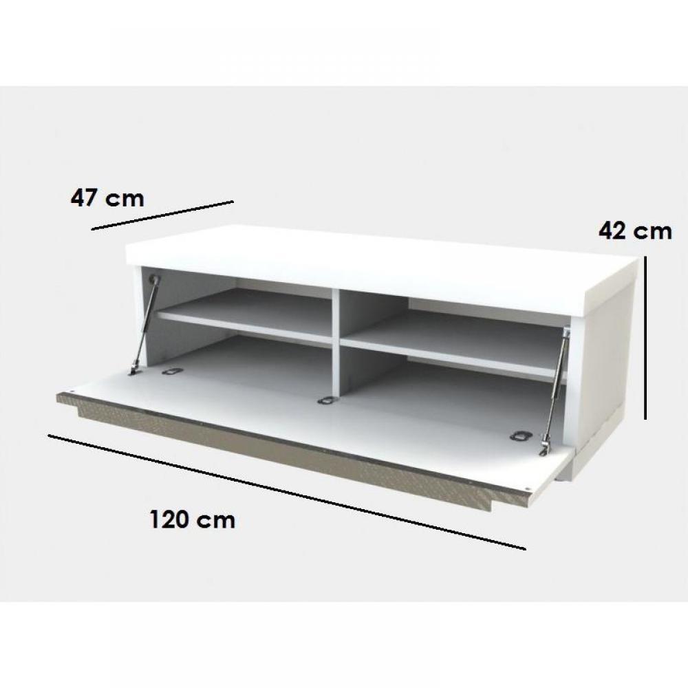 Meubles tv meubles et rangements meuble tv design noir for Etagere meuble tele