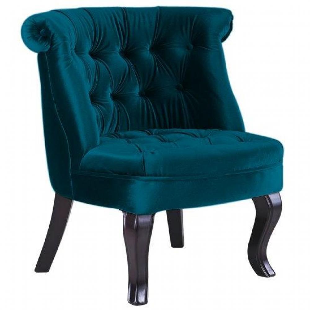 fauteuils et poufs canap s syst me rapido fauteuil capitonn design versailles velours bleu. Black Bedroom Furniture Sets. Home Design Ideas