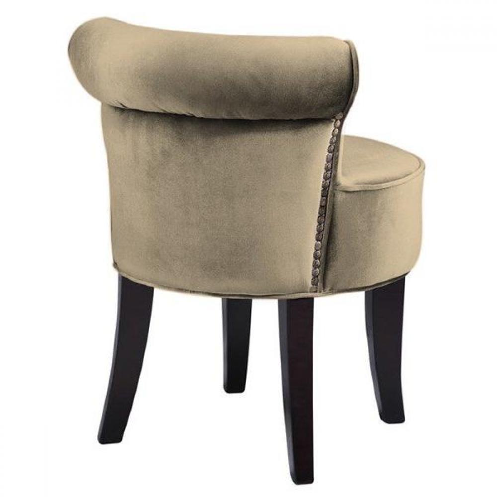 Tapis de sol meubles et rangements petit fauteuil design crapaud versailles - Fauteuil crapaud velours beige ...