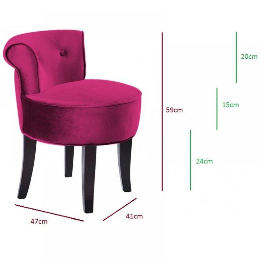 Tapis de sol meubles et rangements petit fauteuil design crapaud versailles - Fauteuil crapaud fushia ...