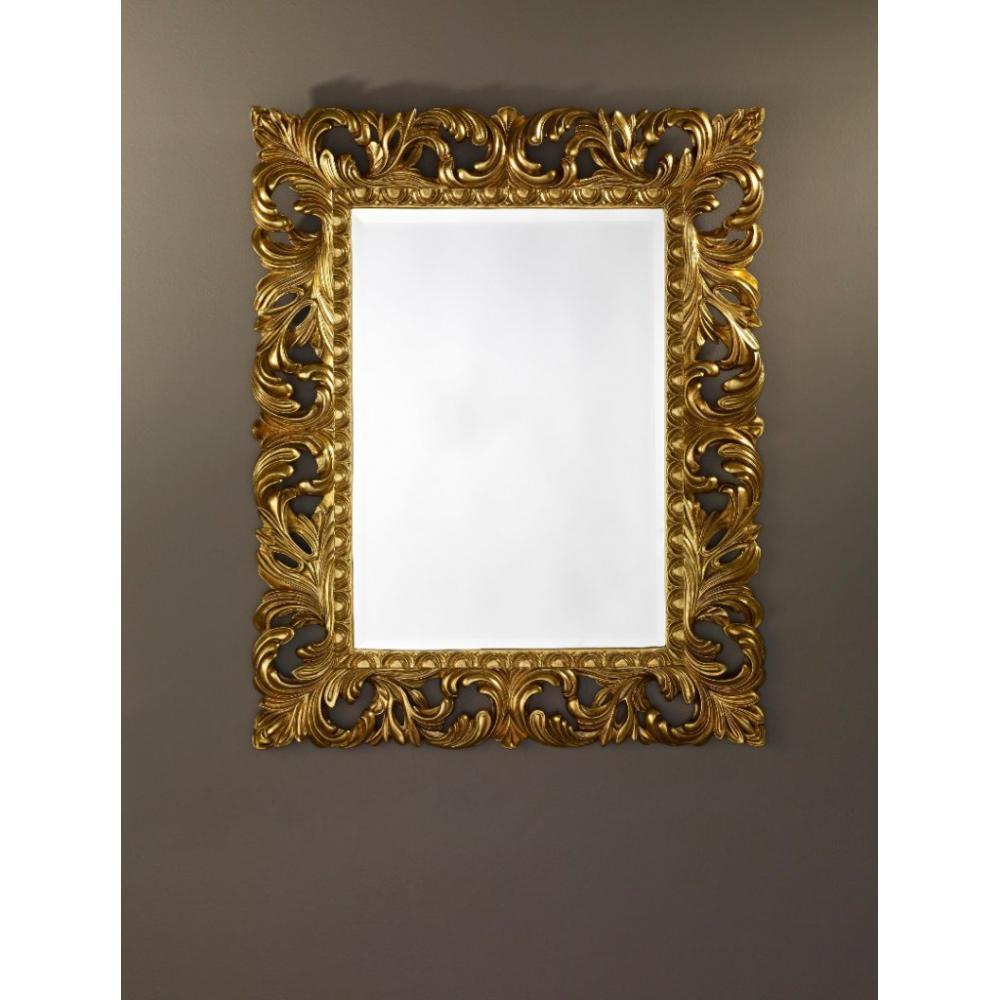 Vinci miroir mural en verre de style classique or place for Miroir de peine