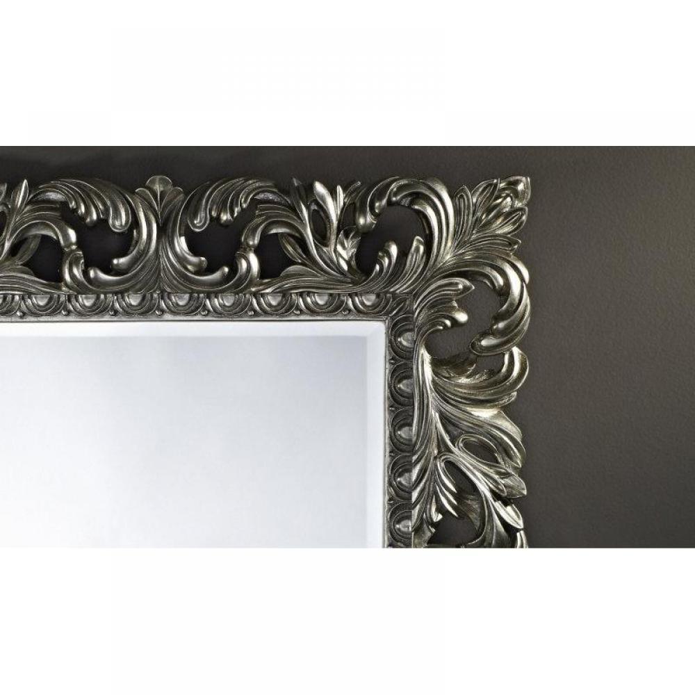 Vinci miroir mural en verre de style classique argent for Miroir d argent