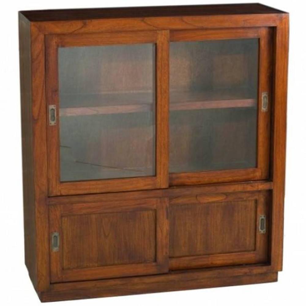 Buffets meubles et rangements vitrine 4 portes for 4 portes coulissantes