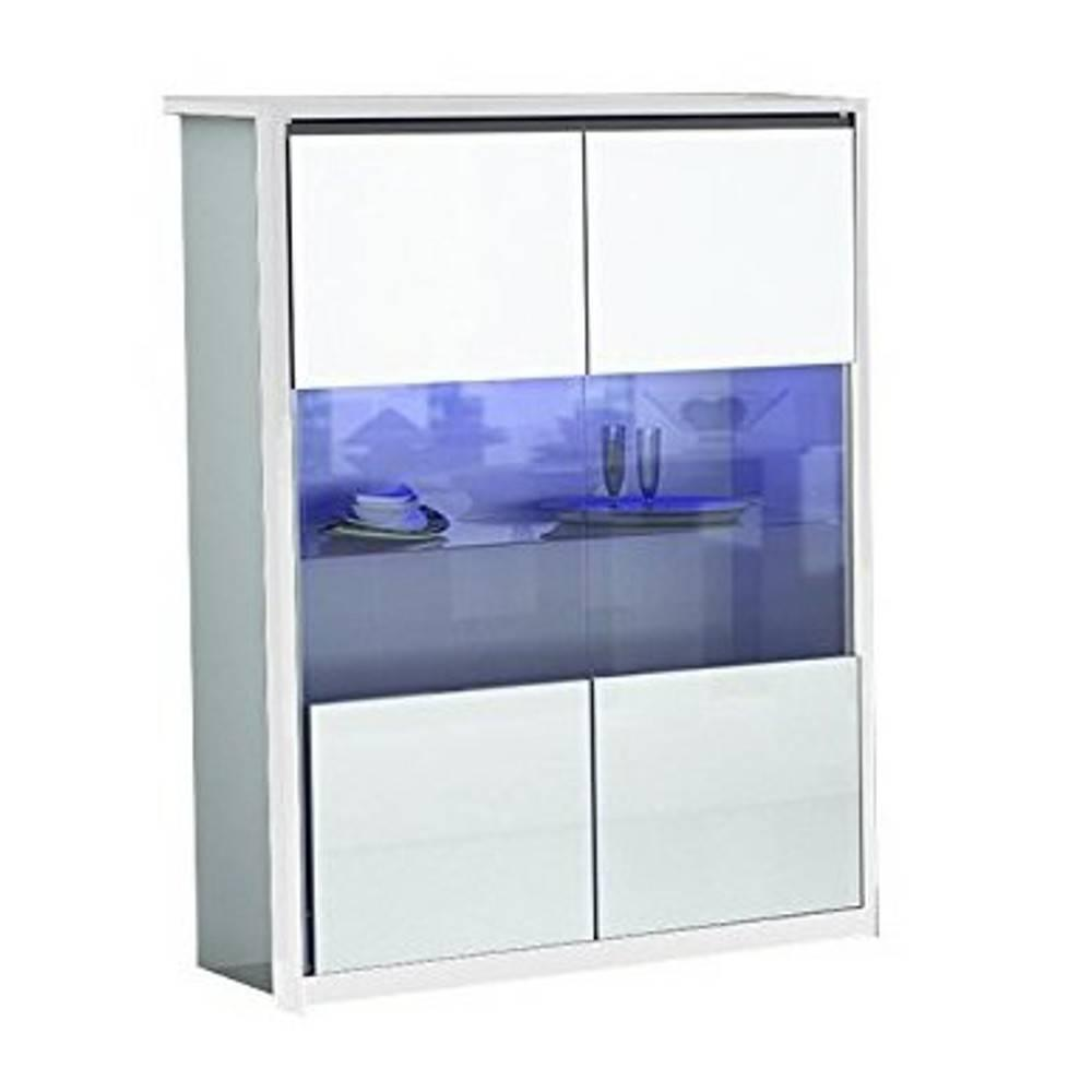vitrines meubles et rangements vitrine mito blanche avec. Black Bedroom Furniture Sets. Home Design Ideas