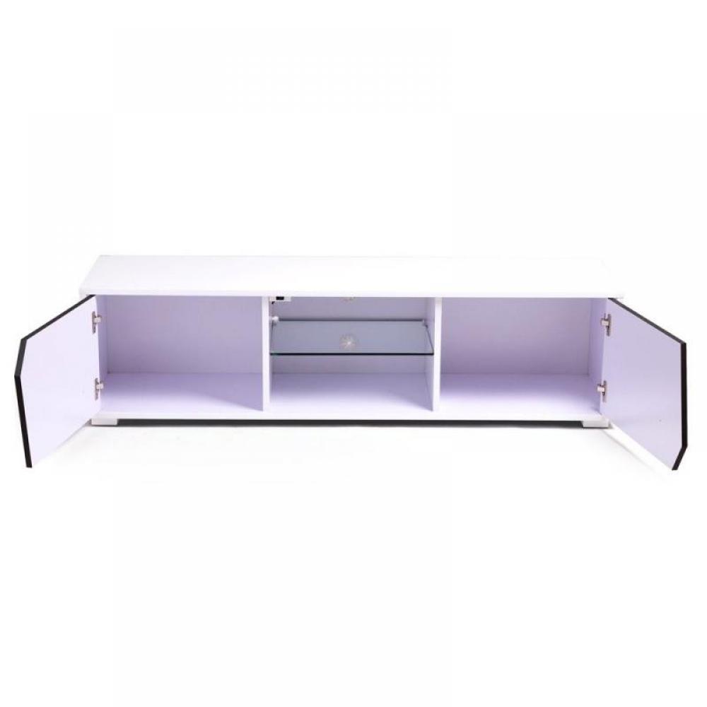 Lits escamotables armoires lits escamotables voyager for Grand meuble tv blanc laque