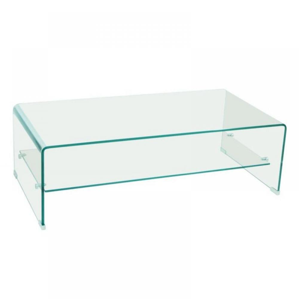 Tables basses tables et chaises table basse design side en verre tremp 12m - Table en verre trempe blanc ...