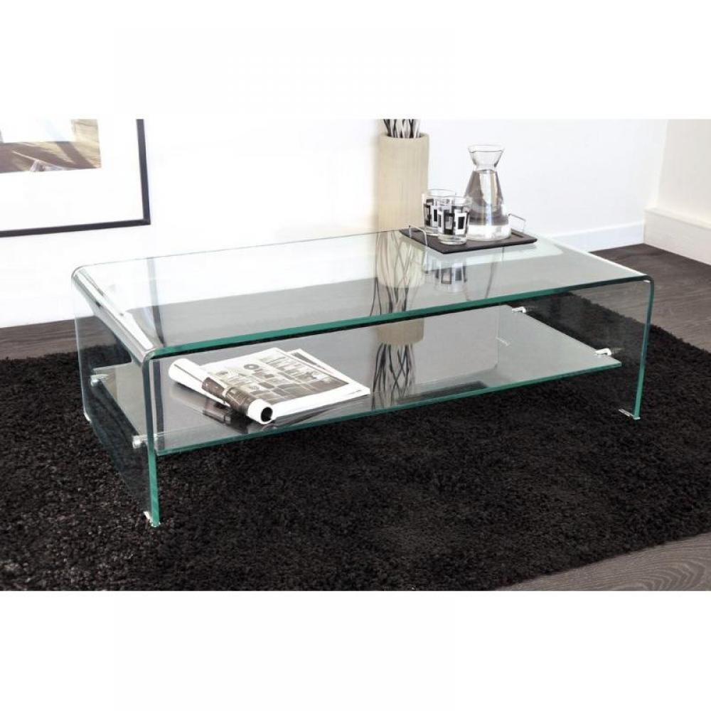Table basse design side en verre tremp 12mm transparent - Table basse verre design ...