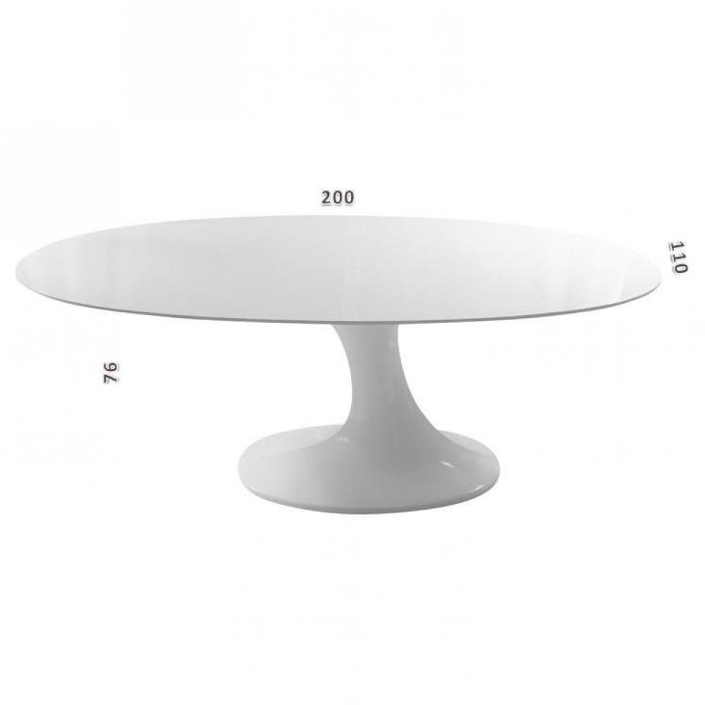 Table de jardin ovale blanche des id es - Table ovale blanche ...