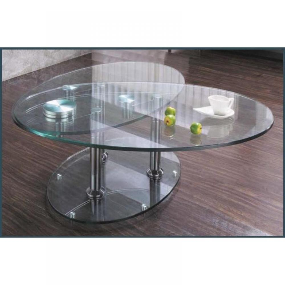Wings table basse modulable en verre pi tement acier for Table basse tout en verre