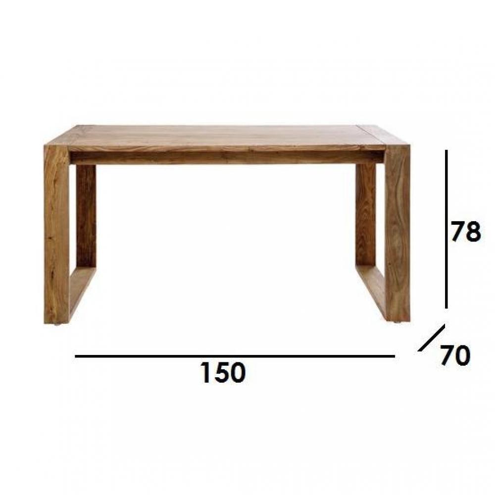 Bureaux, meubles et rangements, Bureau WOOD bois massif Inside75 # Bureau Bois Massif Design